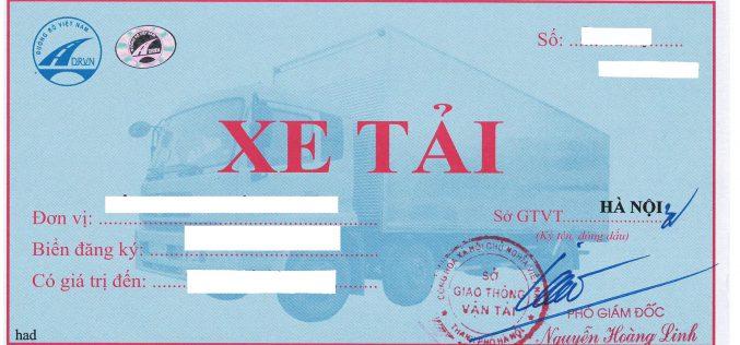 Thủ tục cấp phù hiệu xe tải