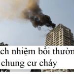 Trách nhiệm bồi thường khi cháy chung cư