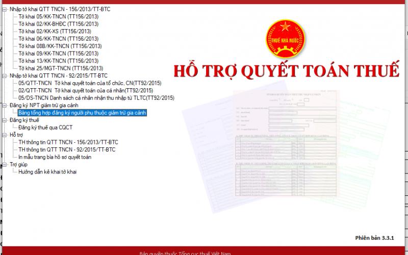 Đăng ký mã số thuế cho người phụ thuộc