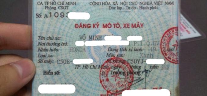 Thủ tục cấp lại Giấy đăng ký xe