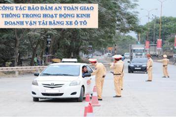 Công tác bảo đảm an toàn giao thông
