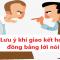 Những lưu ý khi giao kết Hợp đồng bằng lời nói
