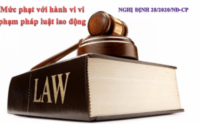 Mức phạt đối với các hành vi vi phạm quy định về lao động