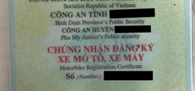 Các trường hợp phải thu hồi giấy đăng ký xe và biển số xe