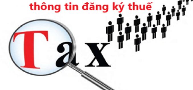 Xử phạtchậm thông báo thay đổi thông tin trong hồ sơ đăng ký thuế