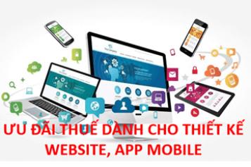 Thiết kế Website, App Mobile có được hưởng ưu đãi thuế?